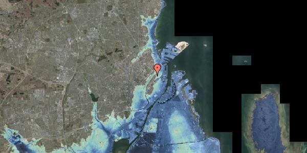 Stomflod og havvand på Voldmestergade 24, 2100 København Ø