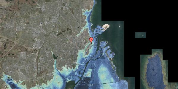 Stomflod og havvand på Voldmestergade 34, 2100 København Ø