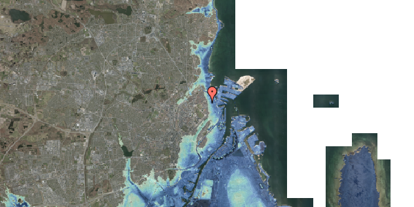 Stomflod og havvand på Vordingborggade 4B, 1. th, 2100 København Ø