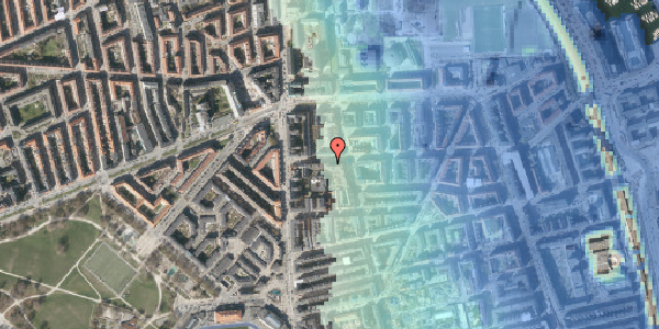 Stomflod og havvand på Vordingborggade 6F, st. 2, 2100 København Ø