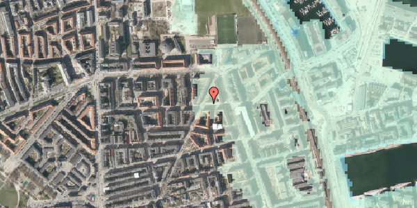 Stomflod og havvand på Vordingborggade 35, 3. tv, 2100 København Ø