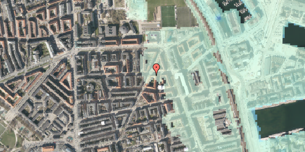 Stomflod og havvand på Vordingborggade 74, 4. tv, 2100 København Ø