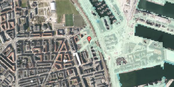 Stomflod og havvand på Vordingborggade 93, kl. , 2100 København Ø