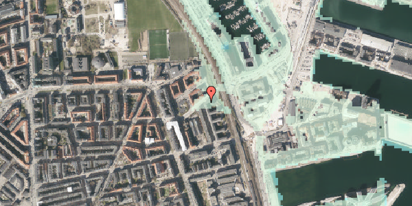 Stomflod og havvand på Vordingborggade 98, 3. tv, 2100 København Ø