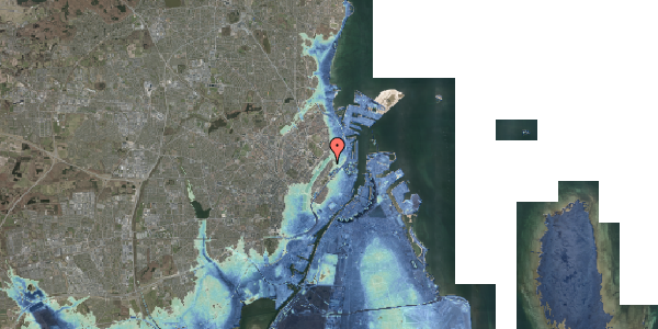 Stomflod og havvand på Zinnsgade 1, 2. tv, 2100 København Ø