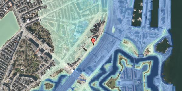 Stomflod og havvand på Østbanegade 13, kl. 2, 2100 København Ø