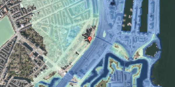 Stomflod og havvand på Østbanegade 17, kl. mf, 2100 København Ø