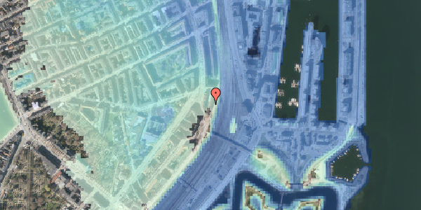 Stomflod og havvand på Østbanegade 25, kl. , 2100 København Ø