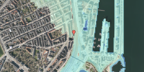 Stomflod og havvand på Østbanegade 33, 1. 2, 2100 København Ø