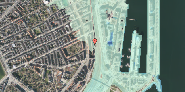 Stomflod og havvand på Østbanegade 39, kl. , 2100 København Ø