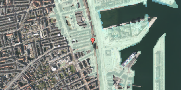 Stomflod og havvand på Østbanegade 105, 2. tv, 2100 København Ø