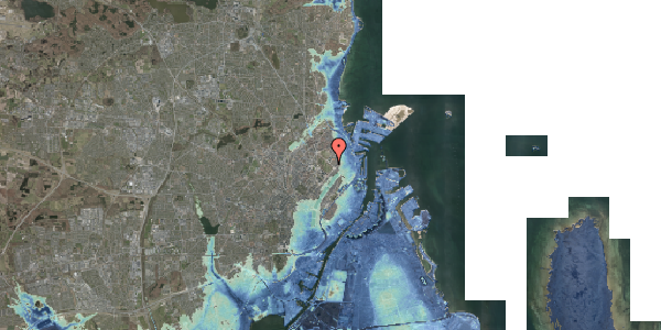 Stomflod og havvand på Øster Allé 25, 1. 55, 2100 København Ø