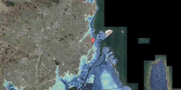 Stomflod og havvand på Øster Allé 46, 1. , 2100 København Ø