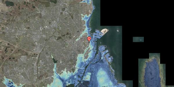 Stomflod og havvand på Øster Allé 48, kl. 2, 2100 København Ø