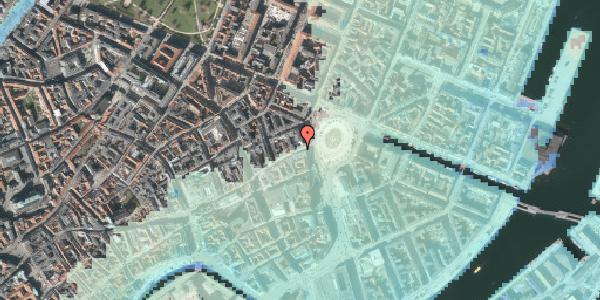 Stomflod og havvand på Østergade 4B, 1100 København K