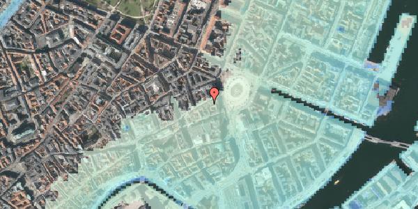 Stomflod og havvand på Østergade 5, 3. th, 1100 København K