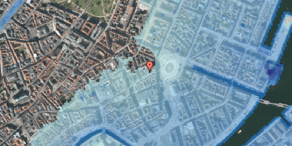 Stomflod og havvand på Østergade 16A, 3. tv, 1100 København K