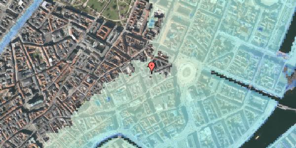 Stomflod og havvand på Østergade 24B, 2. th, 1100 København K