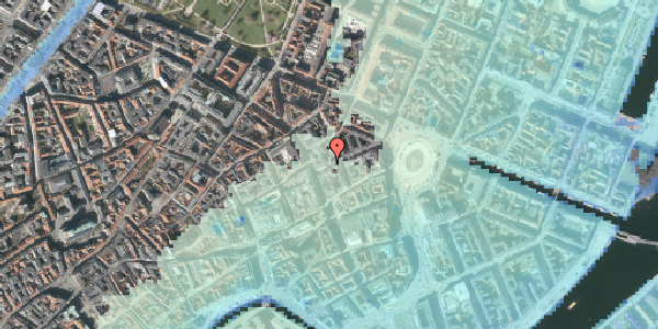Stomflod og havvand på Østergade 24B, 4. 2, 1100 København K