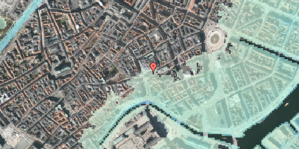 Stomflod og havvand på Østergade 61, st. 1, 1100 København K