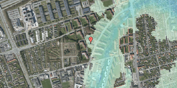 Stomflod og havvand på Arnold Nielsens Boulevard 34, 1. tv, 2650 Hvidovre