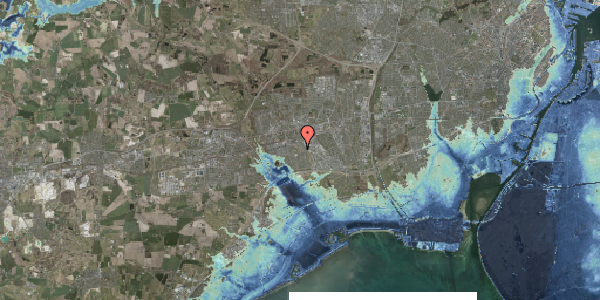 Stomflod og havvand på Bellishaven 1, 2625 Vallensbæk