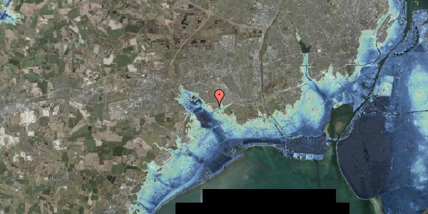 Stomflod og havvand på Kirkebakke Alle 12, 2625 Vallensbæk