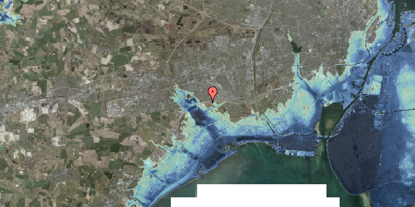 Stomflod og havvand på Kirkebakke Alle 13, 2625 Vallensbæk