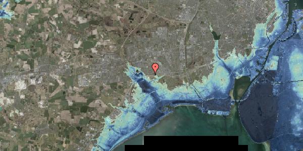 Stomflod og havvand på Kirkebakke Alle 15, 2625 Vallensbæk