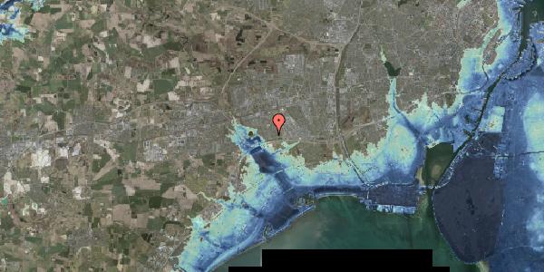 Stomflod og havvand på Nørrebred 33, 2625 Vallensbæk