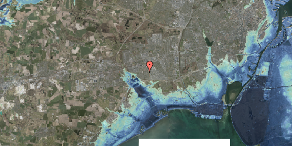 Stomflod og havvand på Nørrebred 218, 2625 Vallensbæk