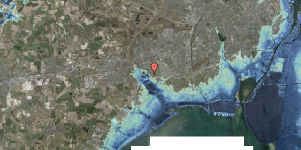 Stomflod og havvand på Rendsagervej 40, 2625 Vallensbæk