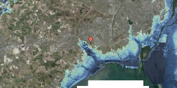 Stomflod og havvand på Rendsagervej 64, 2625 Vallensbæk