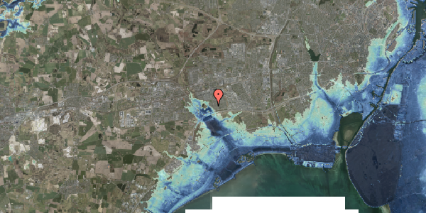 Stomflod og havvand på Rendsagervej 94, 2625 Vallensbæk