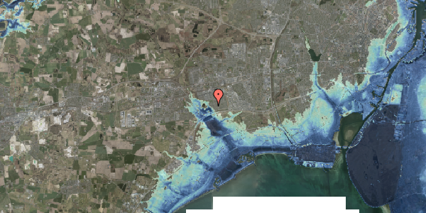 Stomflod og havvand på Rendsagervej 106, 2625 Vallensbæk