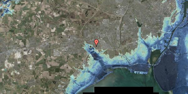 Stomflod og havvand på Rendsagervej 123, 2625 Vallensbæk