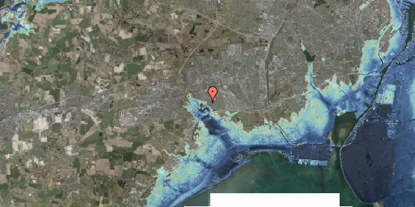 Stomflod og havvand på Rendsagervej 233, 2625 Vallensbæk