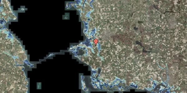 Stomflod og havvand på Fruegade 11, 4241 Vemmelev