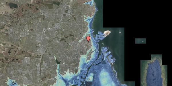 Stomflod og havvand på Øster Allé 60A, 2100 København Ø