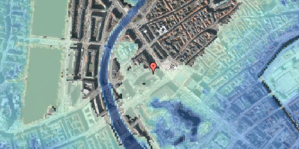 Stomflod og havvand på Jernbanegade 1, 1608 København V