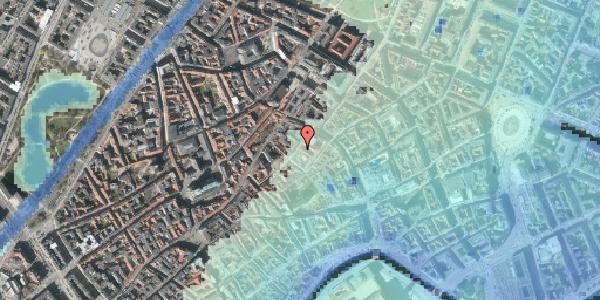 Stomflod og havvand på Løvstræde 5, 1152 København K