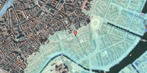 Stomflod og havvand på Nikolaj Plads 3, 1067 København K