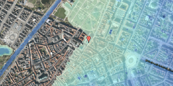 Stomflod og havvand på Vognmagergade 2, 1120 København K