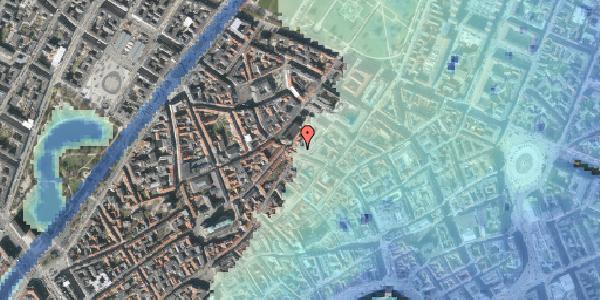 Stomflod og havvand på Købmagergade 50A, 1150 København K