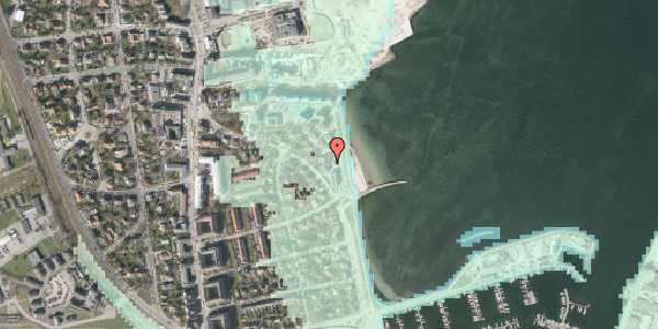 Stomflod og havvand på Strandpromenaden 51, 2100 København Ø