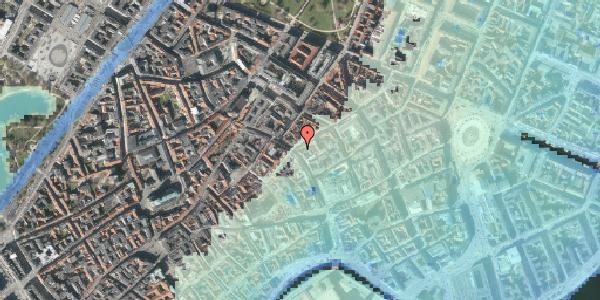 Stomflod og havvand på Købmagergade 34, 1150 København K