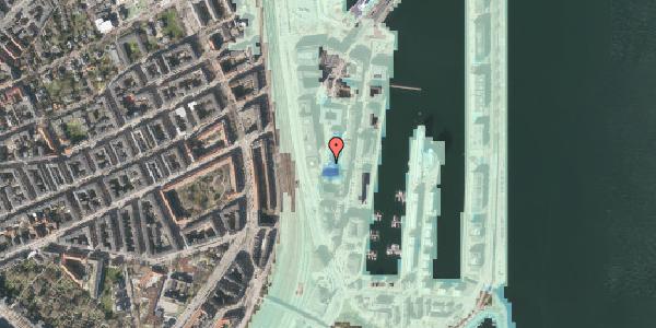 Stomflod og havvand på Amerika Plads 4, 1. 1, 2100 København Ø