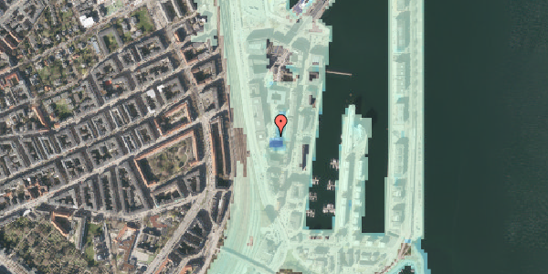 Stomflod og havvand på Amerika Plads 4, 2. 1, 2100 København Ø