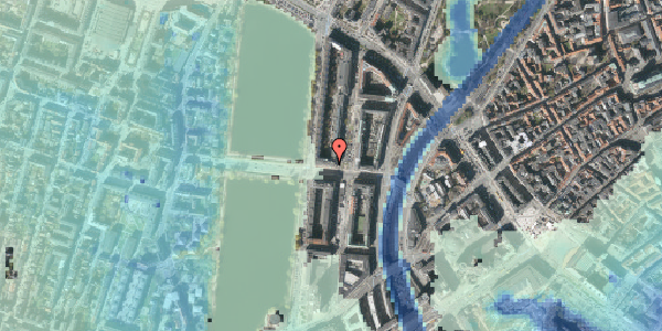 Stomflod og havvand på Kampmannsgade 4, 5. , 1604 København V
