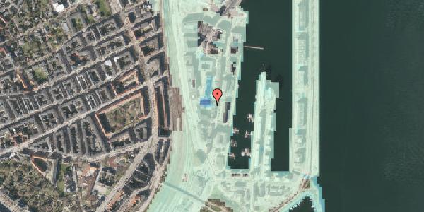 Stomflod og havvand på Amerika Plads 3A, kl. 12, 2100 København Ø